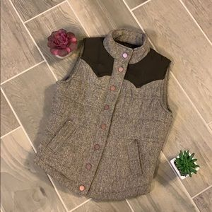 Tweed Puff Vest size Small